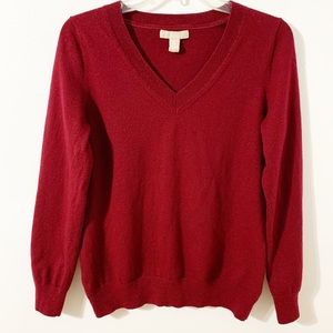 Banana Republic Merino Wool Blend V-Neck Sweater